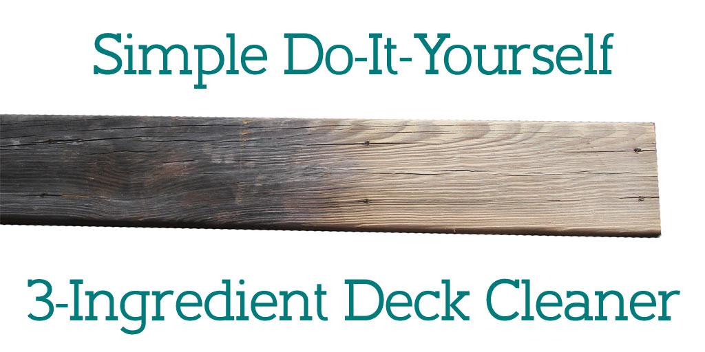 diy deck cleaner