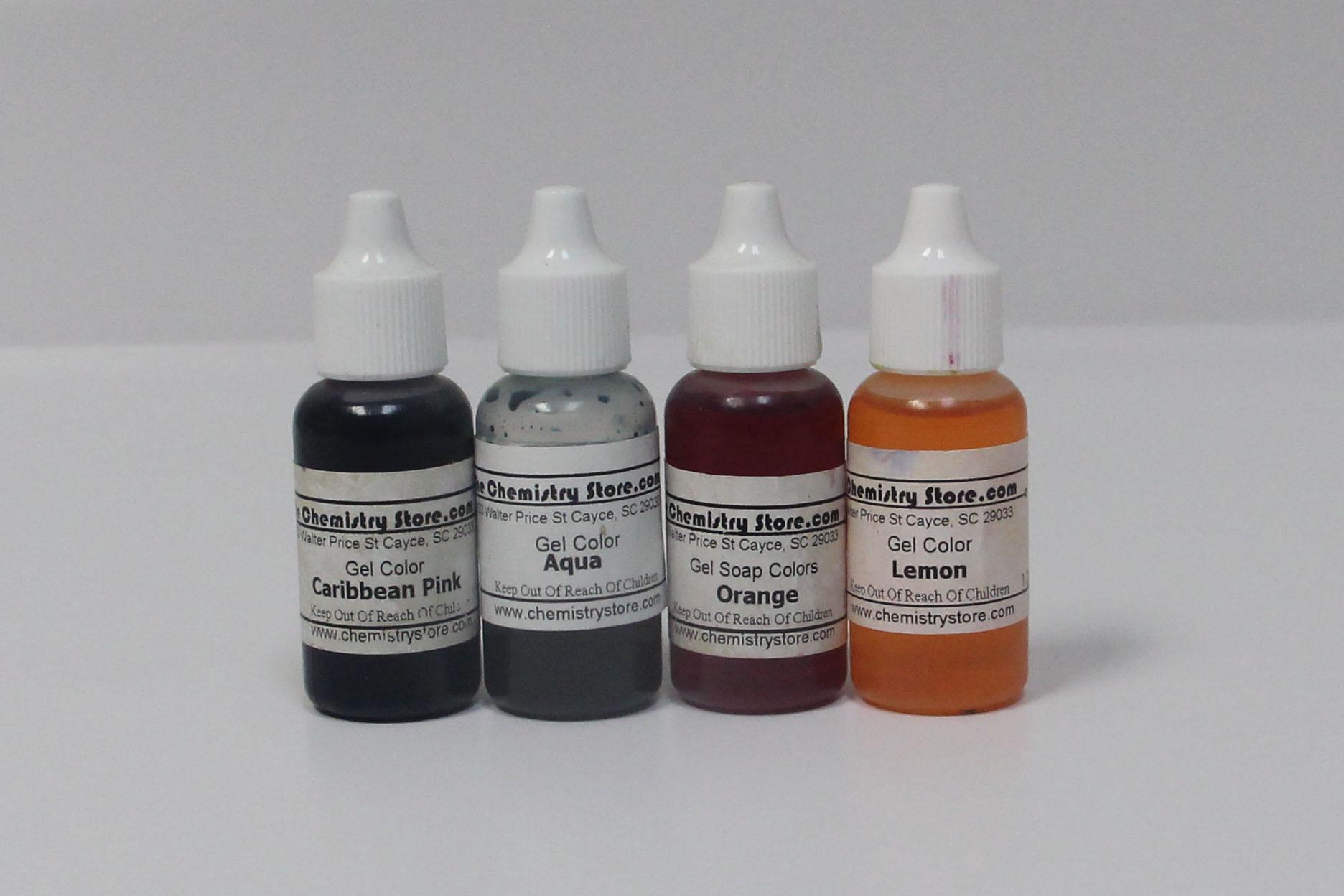 gel colors melt & pour soap