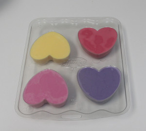 melt & pour heart soap valentine's day gift ideas soap mold