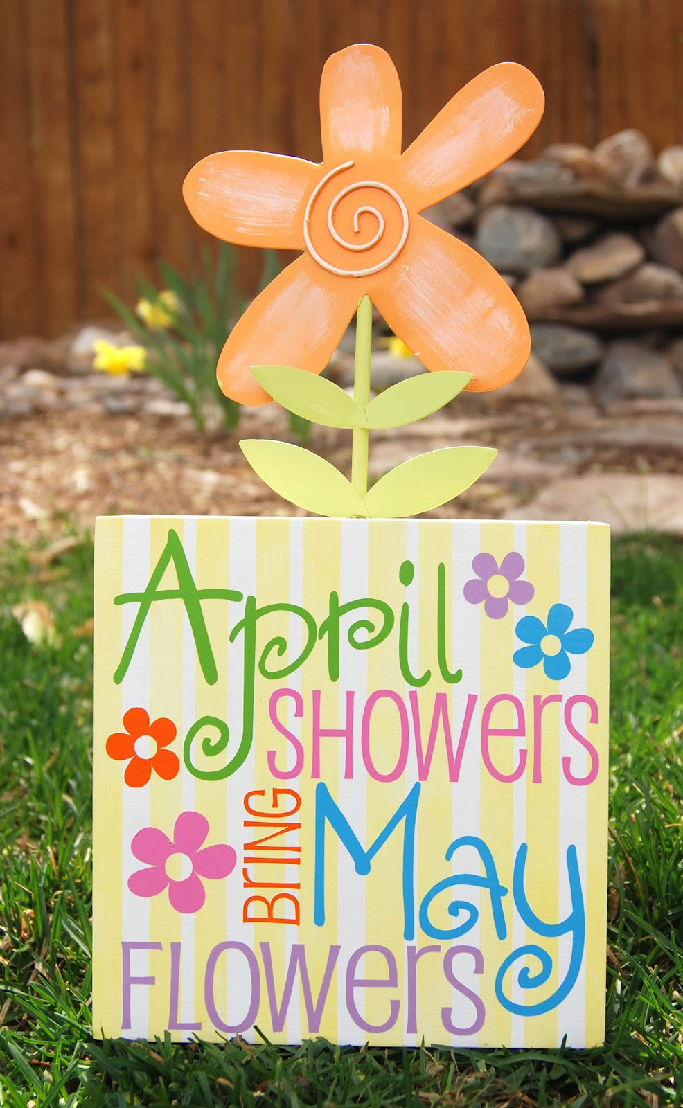 April showers brings May flowers