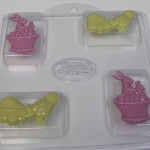 bunny and chick melt & pour soap fill