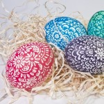 colorful eggs banner