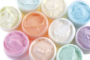 colorful bath butters