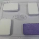 gents background pour soap mold