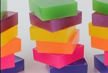 colorful square bars of melt & pour