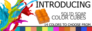 14 bright solid color cubes