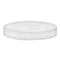 89/400 White Smooth Lids w/ Liner (Case of 560)