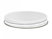 89/400 White Metal Lid w/Liner (Case of 700)