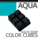 Aqua Solid Color Cubes
