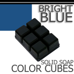 Bright Blue Solid Color Cubes