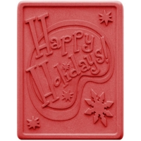 Happy Holiday Soap Mold