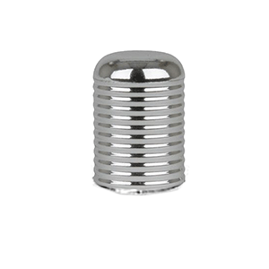 15/415 Silver Ribbed Caps (Case of 1547)