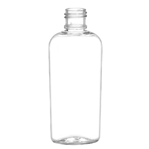 1oz Clear PET Tapered Oval Bottles