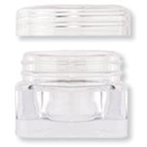 6ml Square Acrylic Jar w/Lid