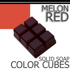 Melon Red Solid Color Cubes