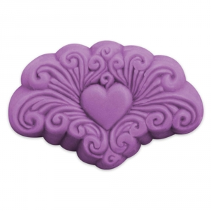 Arabesque Heart Soap Mold