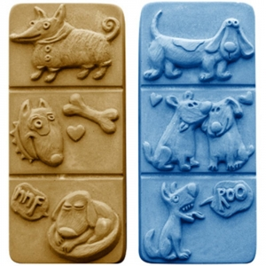 Break Away Dogs Soap Mold