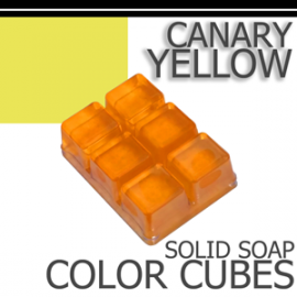 Canary Yellow Solid Color Cubes