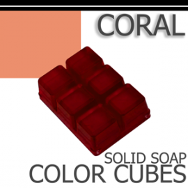 Coral Solid Color Cubes