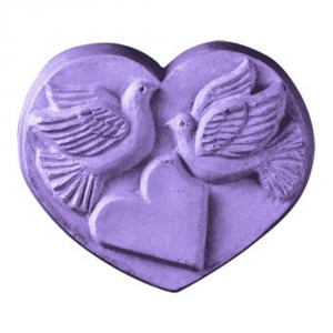 Heart w/Doves Soap Mold