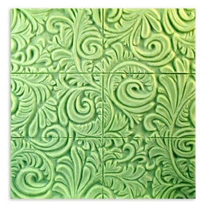 Tray Floral Wallpaper Soap Mold