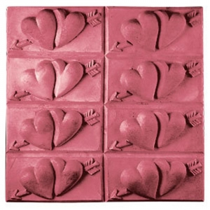 Tray Hearts Soap Mold